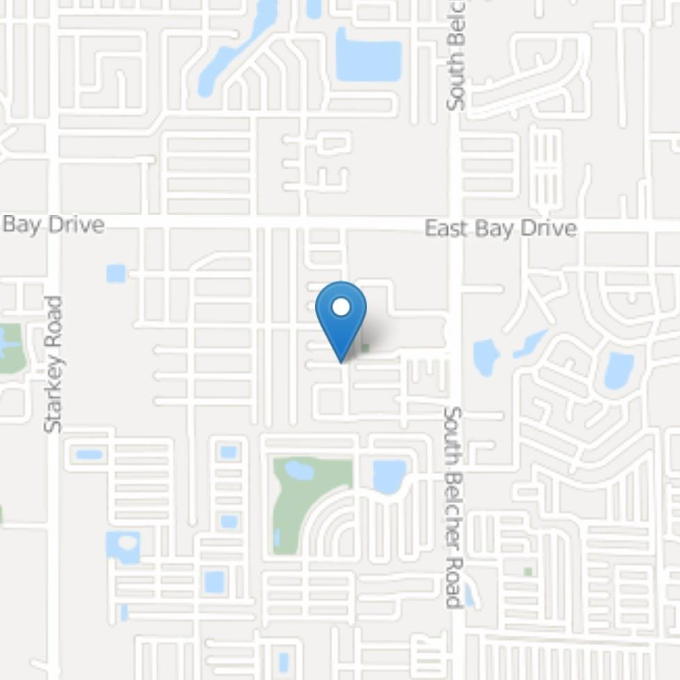 FROM BELCHER: Head East on East Bay Dr. to Fulton Dr. Make a U-turn then turn right onto 36th St. S.E. and go 5 blocks south. Our office will be on your right.  FROM STARKEY/ KEENE: Head West on East Bay Dr. toward Belcher Rd. Turn right on 36th St. S.E. and go 5 blocks south. Our office will be on your right.